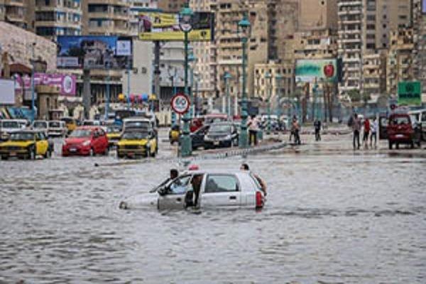 کشته شدن ۱۳ مصری در اثر بارندگی ها و سیل شدید