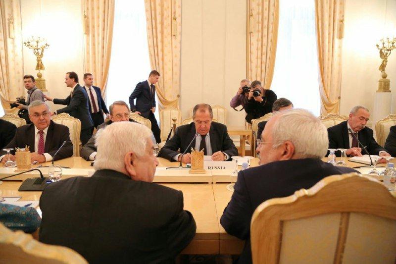 آغاز نشست سه جانبه لاوروف، ظریف و معلم در مسکو