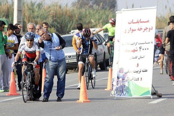 لیگ دسته یک دوچرخه سواری جاده در گرگان پایان یافت