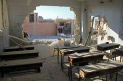 موسكو : صور مدرسة سورية تعرضت للقصف مفبركة