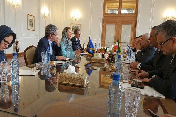 موگرینی با ظریف در تهران دیدار کرد