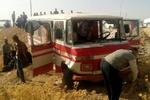 مصدومیت ۱۲ مسافر در واژگونی مینیبوس اصفهان-میمه