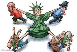 برترین کاریکاتورها؛ آینده نامعلوم آمریکا