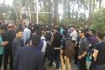 تجمع اعتراضی دانشجویان خوارزمی به دلیل لغو طرح احداث مترو
