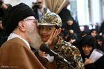 دیدار جمعی از خانوادههای شهدای مدافع حرم با رهبر انقلاب