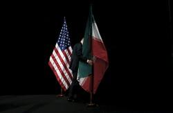 Iran U.S. flags