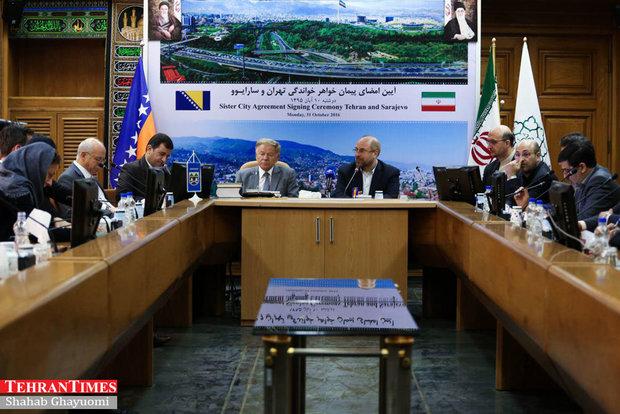 Tehran, Sarajevo announce sister cities