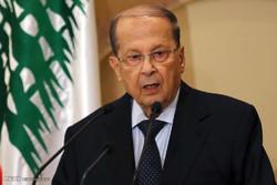 الرئيس اللبناني: لا تراجع أمام الإرهاب بجميع وجوهه وتنظيماته
