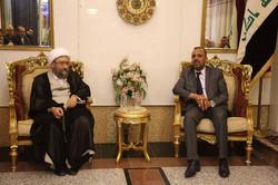 رئيس السلطة القضائية الايرانية ومحافظ النجف يبحثان التعاون المشترك وسبل مكافحة الارهاب