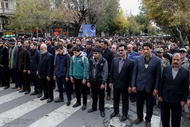 تشییع پیکر شهید مدافع حرم ذاکر حیدری در تبریز
