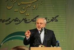 ظريف: قوة ايران تنبع من ثقتها بقدراتها وعدم انخداعها بالوهم الامريكي