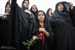 مراسم تشییع پیکر محمد کیانی شهید روحانی مدافع حرم در اندیمشک