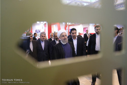 President Hassan Rouhani visits Press Exhibition