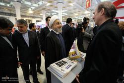جولة الرئيس روحاني في معرض الصحافة في طهران /صور
