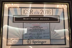 Iranian researchers win Best Robot Design at ICSR 2016