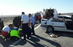 واژگونی - تصادف - تلفات - جاده