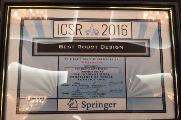 Iranian researchers win Best Robot Design at ICSR 2016