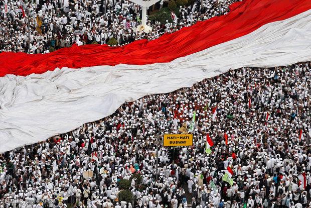 اعتراض مردم اندونزی به توهین به قرآن