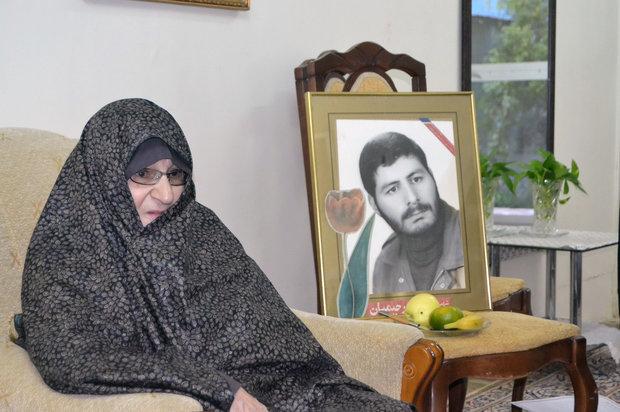 شاهرود - دیدار با حاجیه خانم جلالی مادر شهید مجید رحیمیان