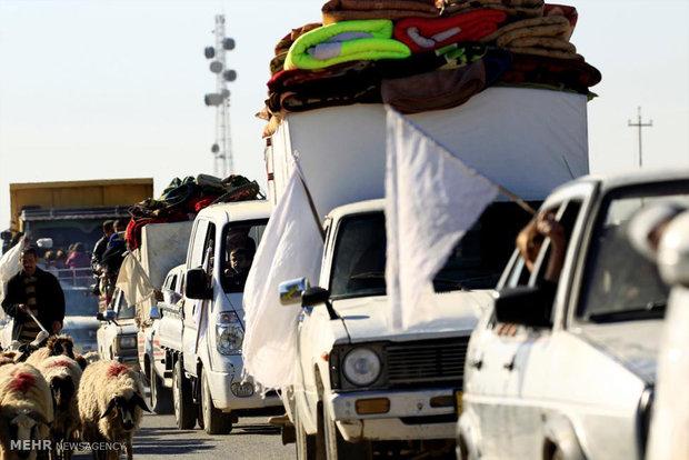 پرچم های سفید در موصل