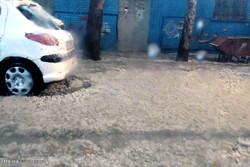 بارش باران و تگرگ در خرم آباد