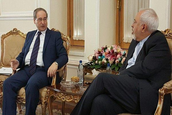 Zarif, Mekdad discuss Syrian crisis
