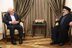 وزير الخارجية الايراني يلتقي الامين العام لحزب الله