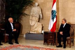 Zarif holds talks with Aoun