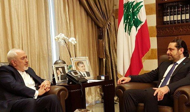 ظريف يلتقي بسعد الحريري وتمام سلام في لبنان