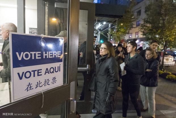 نخستین تصاویر از انتخابات ریاست جمهوری امریکا