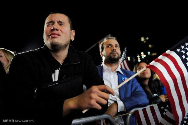 شب سخت حامیان کلینتون