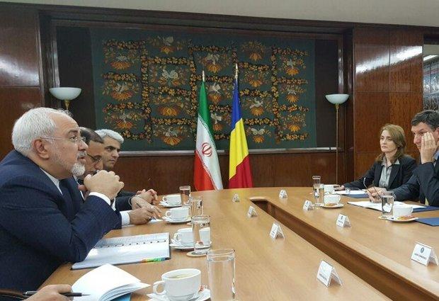 ظریف کی رومانیہ کے وزیر اعظم سے ملاقات