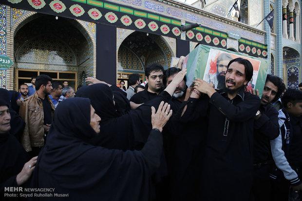 تشییع ده شهید مدافع حرم حضرت زینب سلام الله علیها در قم