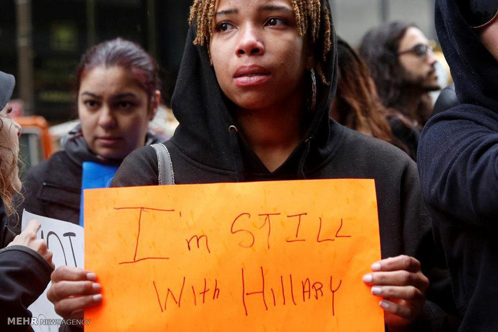 تظاهرات علیه انتخاب ترامپ در آمریکا