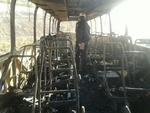 آتش سوزی اتوبوس در جنوب تهران/این حادثه فوتی و یا مصدوم نداشت