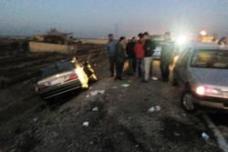 تصادف پژو در مرز چذابه