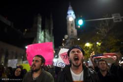 تظاهرات ضد ترامپ برای سومین شب متوالی