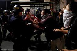 دستگیری ۱۵۰ تن از معترضین به انتخابات آمریکا در لس آنجلس