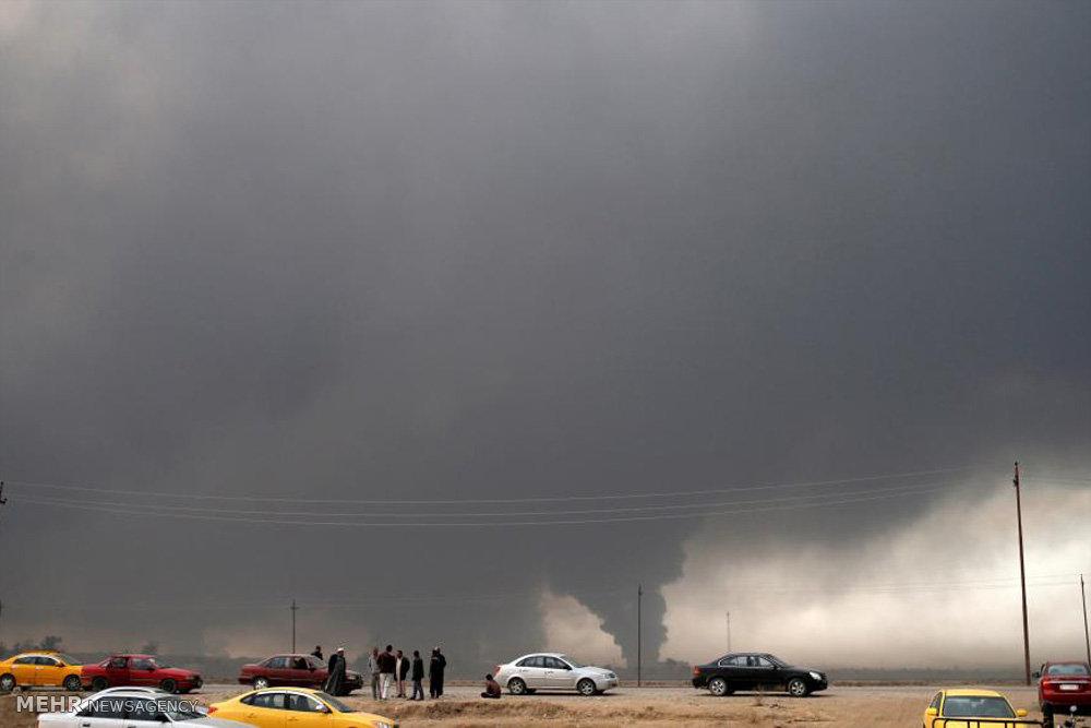 نبرد سربازان عراقی با داعش در موصل