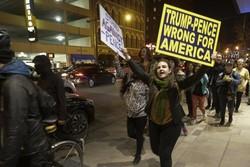تظاهرات ضد ترامپ در «ایندیاناپلیس» به خشونت کشیده شد