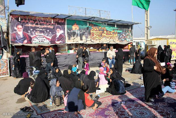 توجه الزوار الايرانيين الى كربلاء عبر منفذ شلمجه الحدودي