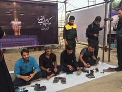 موکب عزاداران حسینی در عوارضی زنجان مستقر شده است