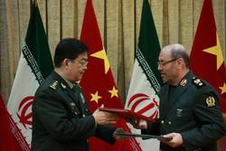 وزرای دفاع ایران و چین