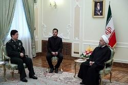 دیدار روحانی با وزیر دفاع ملی چین