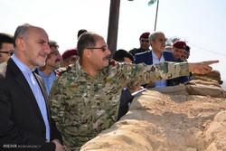 بازدید مقامات ایرانی از جبهه پیشمرگان کرد در اربیل
