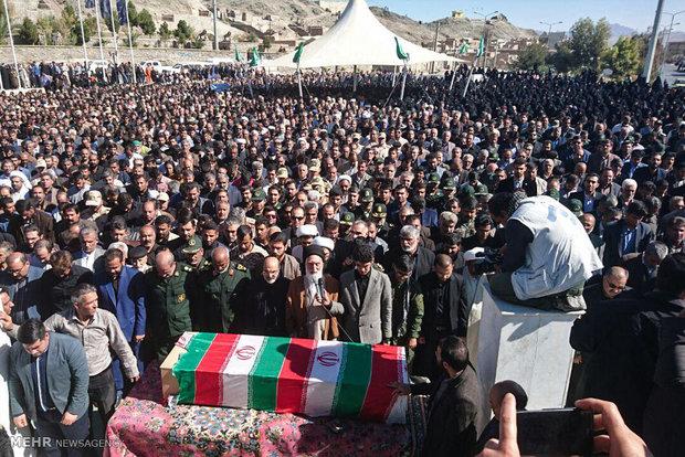 تشییع پیکر پاک شهید محسن خزایی در زاهدان