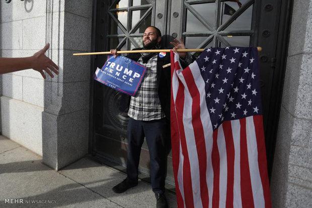 ادامه تظاهرات علیه ترامپ در آمریکا