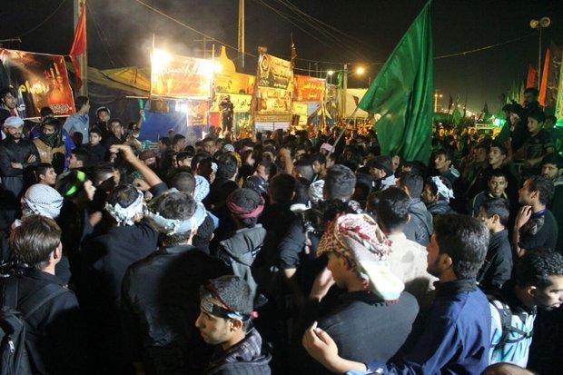 تجمع زائران اربعین در چذابه