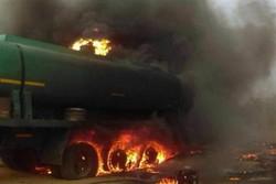 بی احتیاطی تانکر حمل سوخت ۲ کشته و ۴ مجروح برجای گذاشت