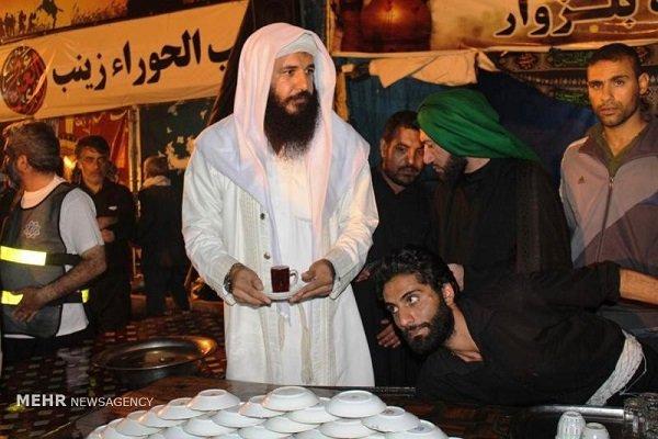موكب الصابئين في جذابة يخدم زوار الامام الحسين (ع)